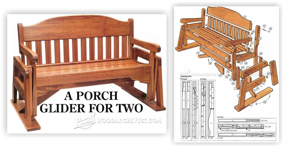 Porch Glider Plans • WoodArchivist