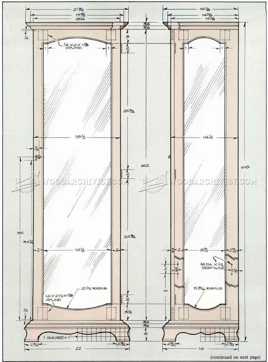 Blueprints For A Modern Four Bedroom Home: Curio Cabinet Plans • WoodArchivist
