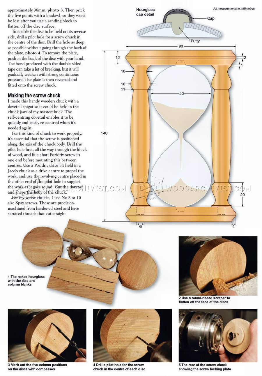 #2943 Hourglass - Woodturning Projects
