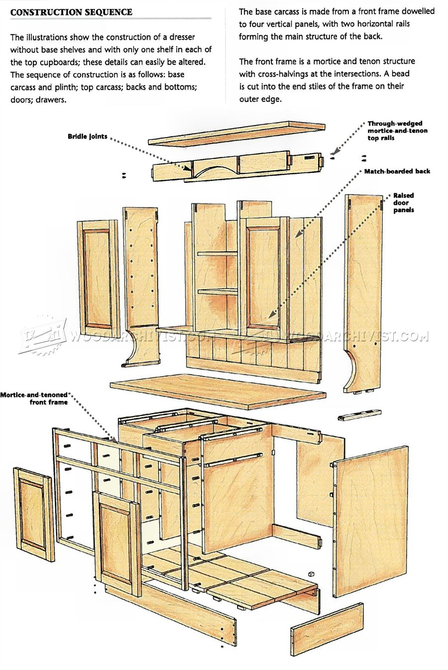 Kitchen Dresser Plans Woodarchivist