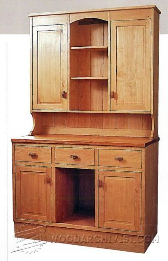 2945-Kitchen Dresser Plans