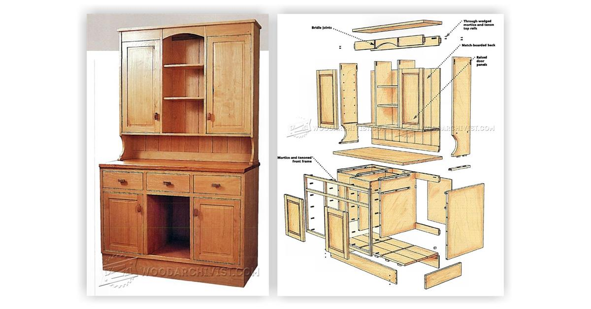 Kitchen Dresser Plans • Woodarchivist