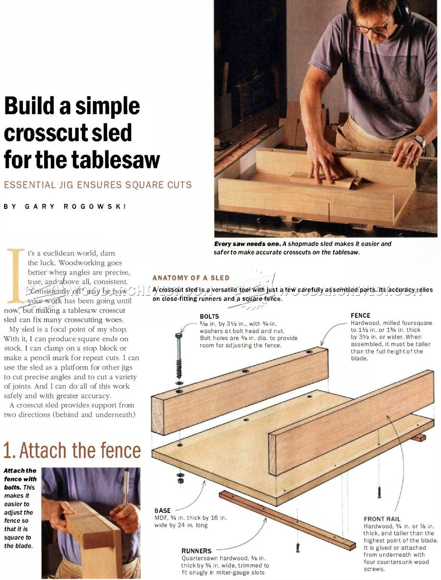 Build Simple Crosscut Sled