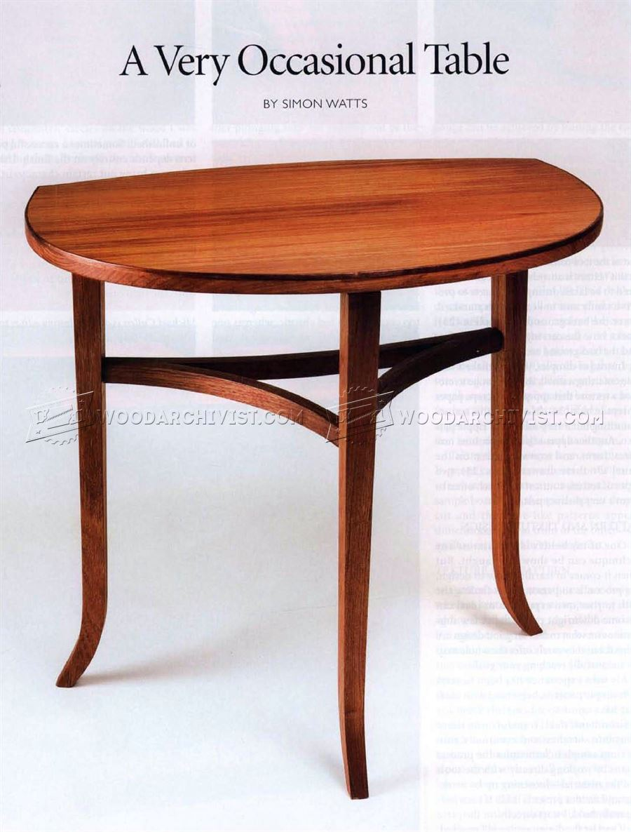 Occasional Table Plans