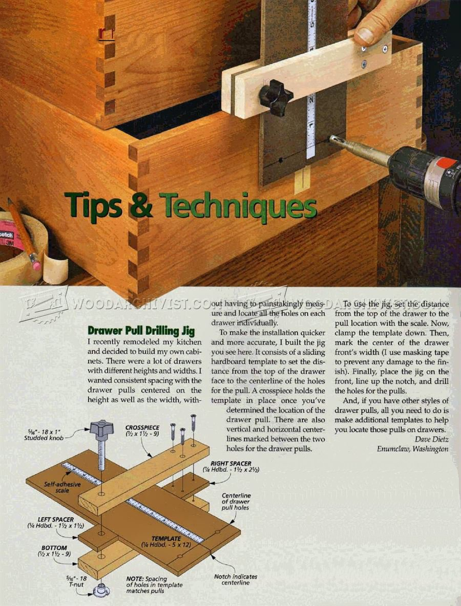 Drawer Pull Drill Jig
