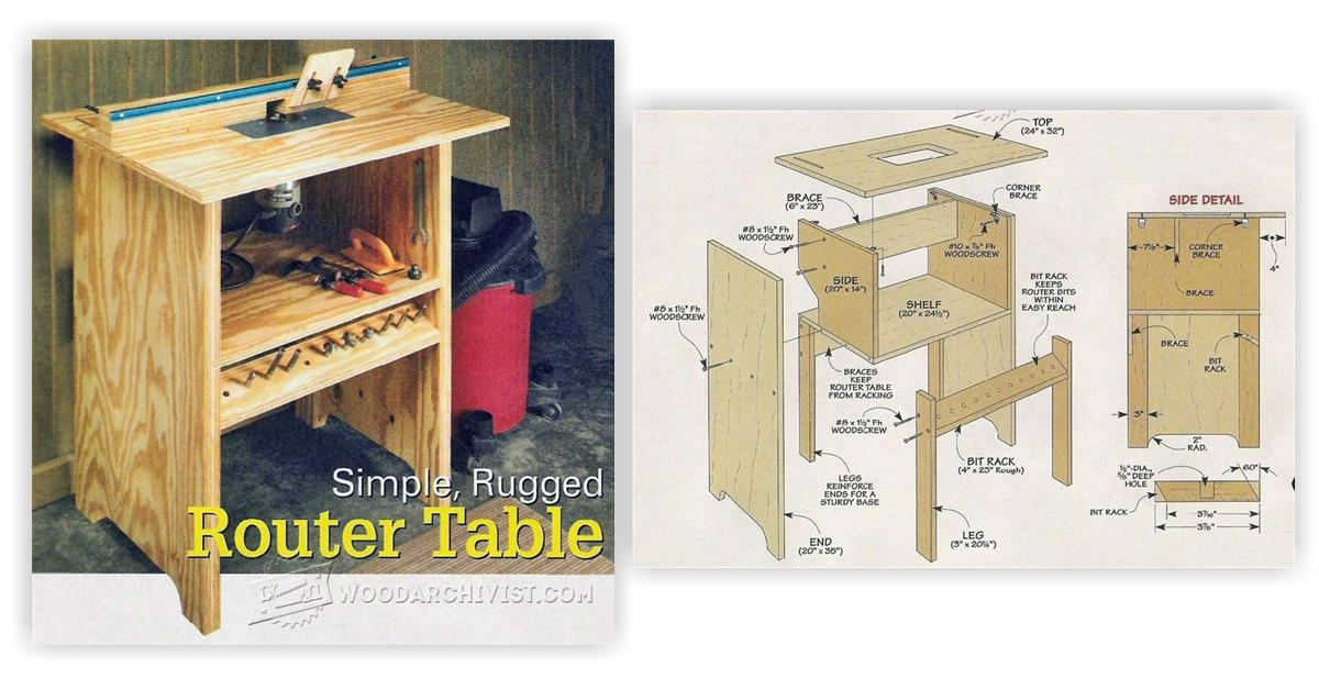 Simple Router Table Plans Woodarchivist