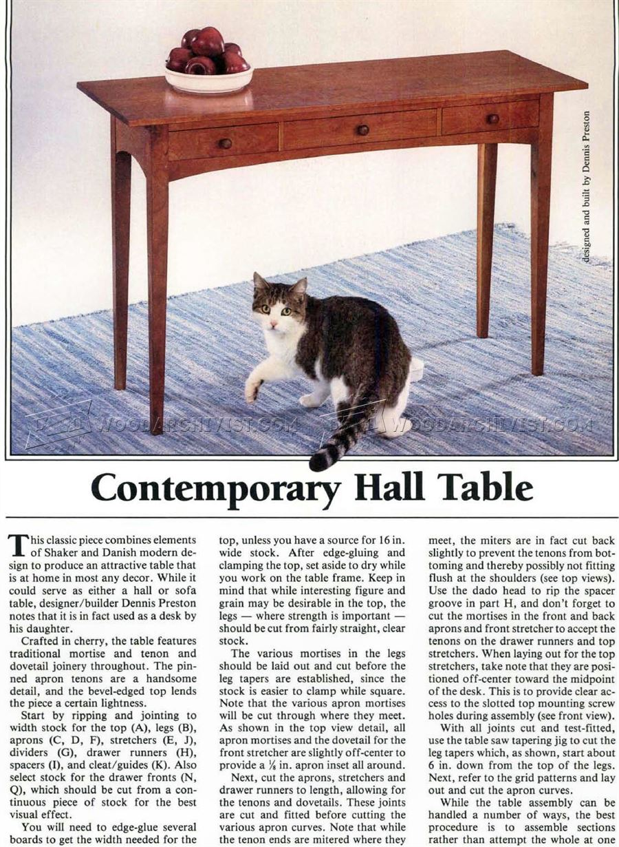 Build Hall Table