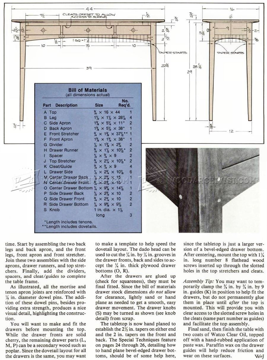 Hall Table Woodworking Plans With Lastest Pictures In ...