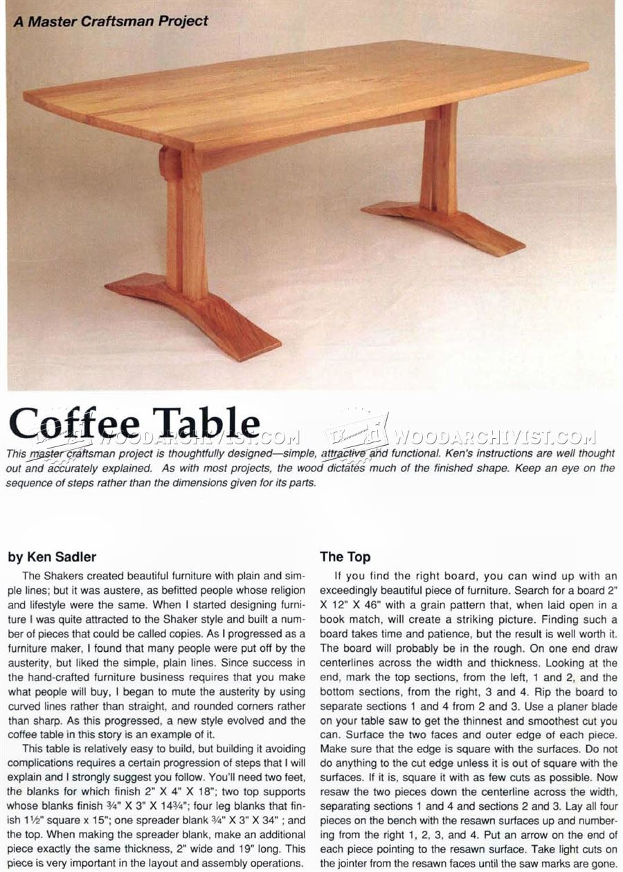 Craftsman Coffee Table Plans ...