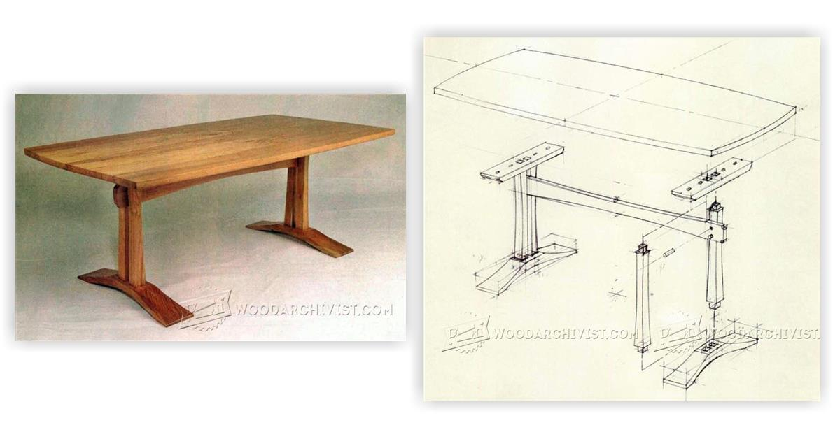 Craftsman Coffee Table Plans Woodarchivist
