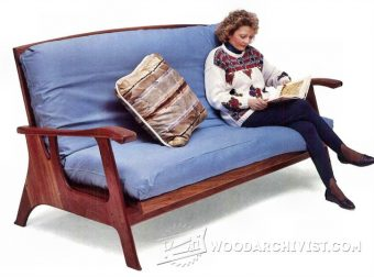 2974-Futon Sofa Bed Plans