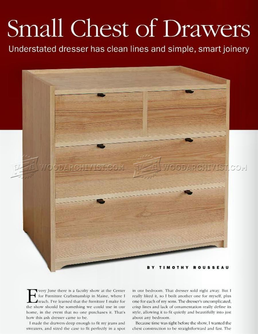 Small Chest of Drawers Plans