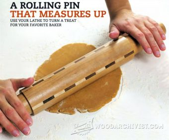 2977-Woodturning Rolling Pin