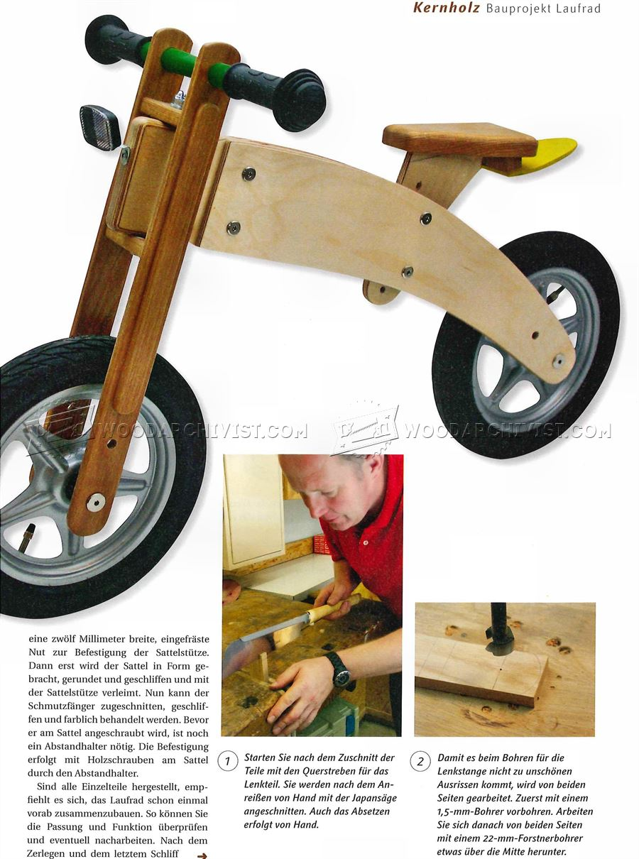 Pics Photos - Wooden Balance Bike Plans