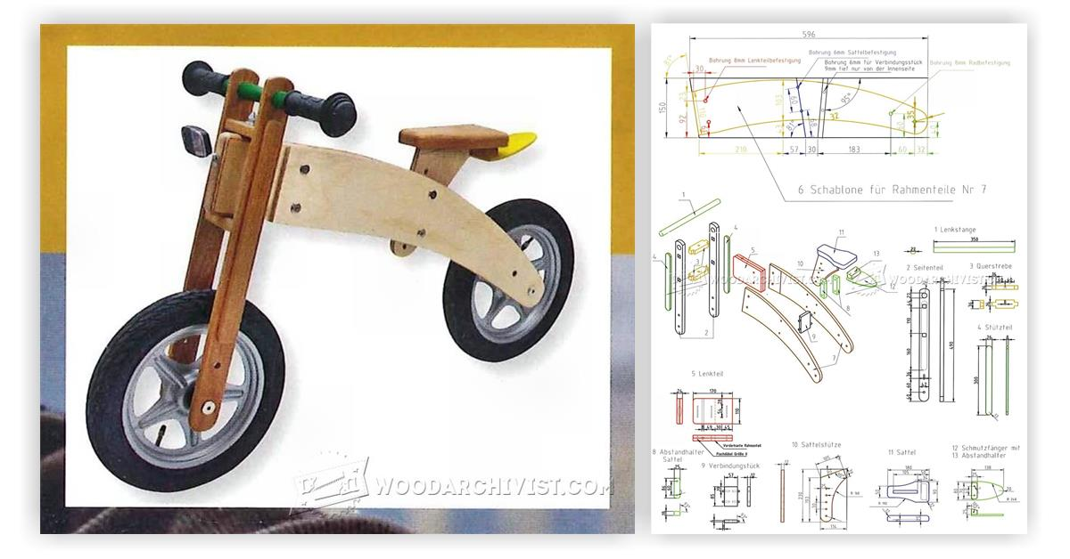 Balance Bike Plans Woodarchivist