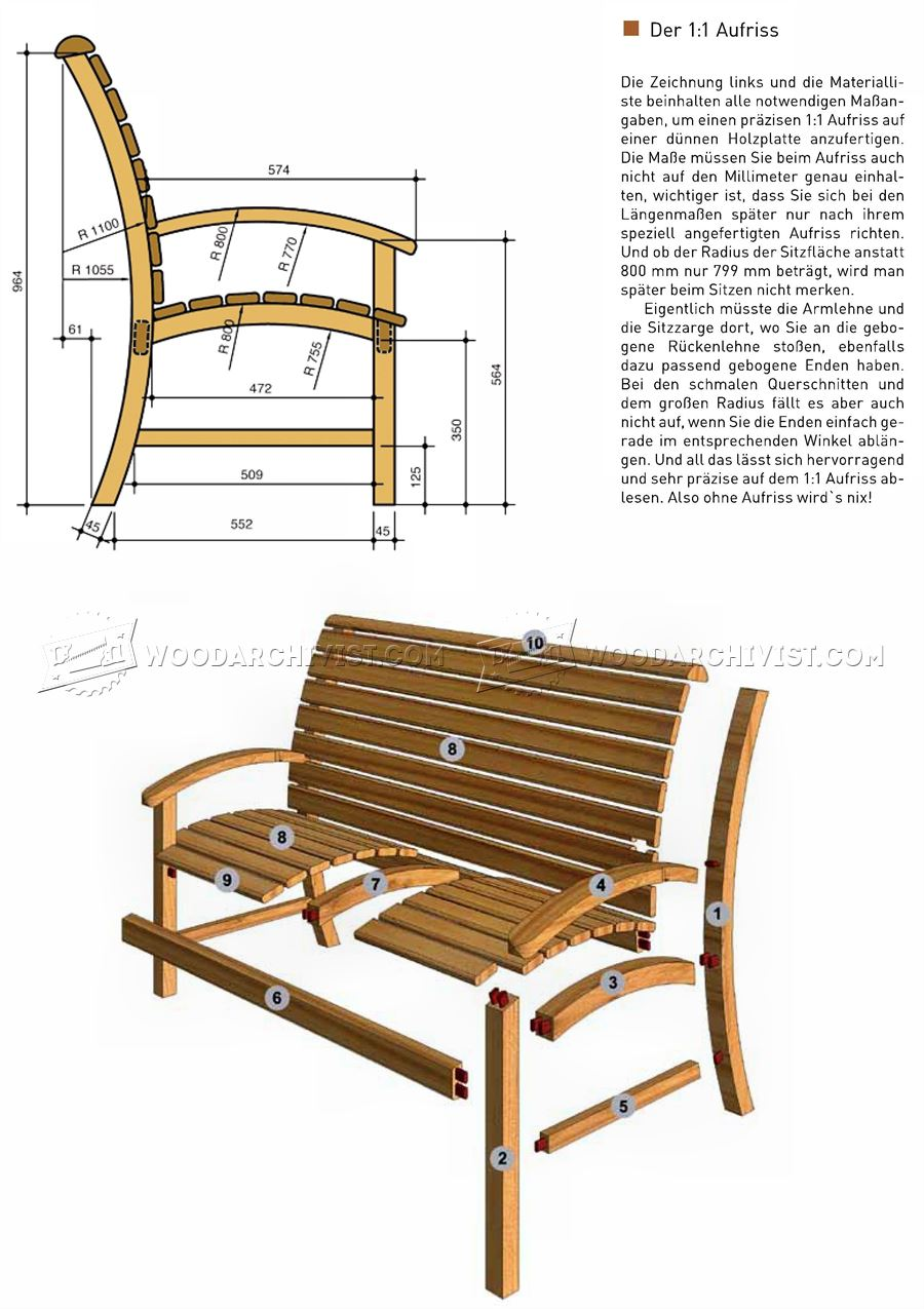 Outdoor furniture plans -  Garden Seat Plans