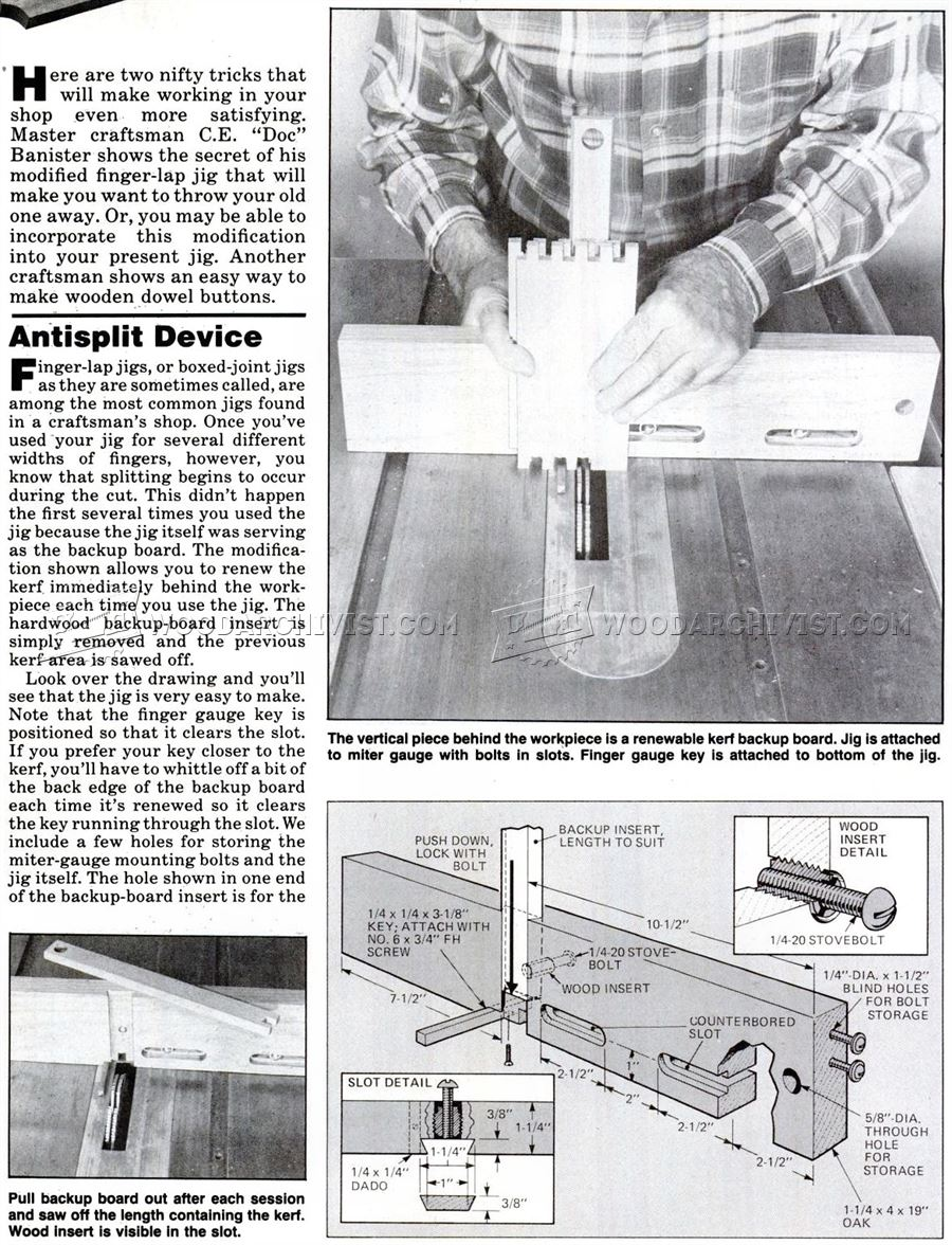 Table Saw Box Joint Jig Plans