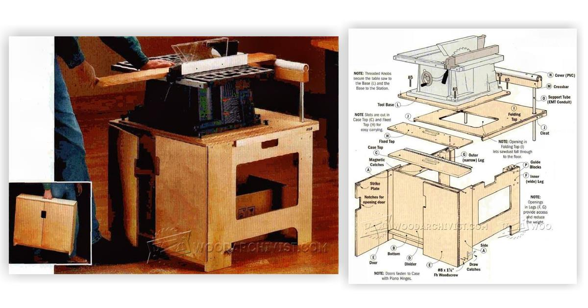 Build Table Saw Stand Woodarchivist