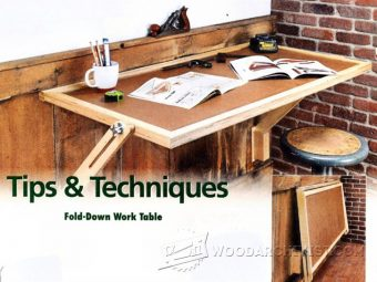 2993-Fold Down Worktable Plans