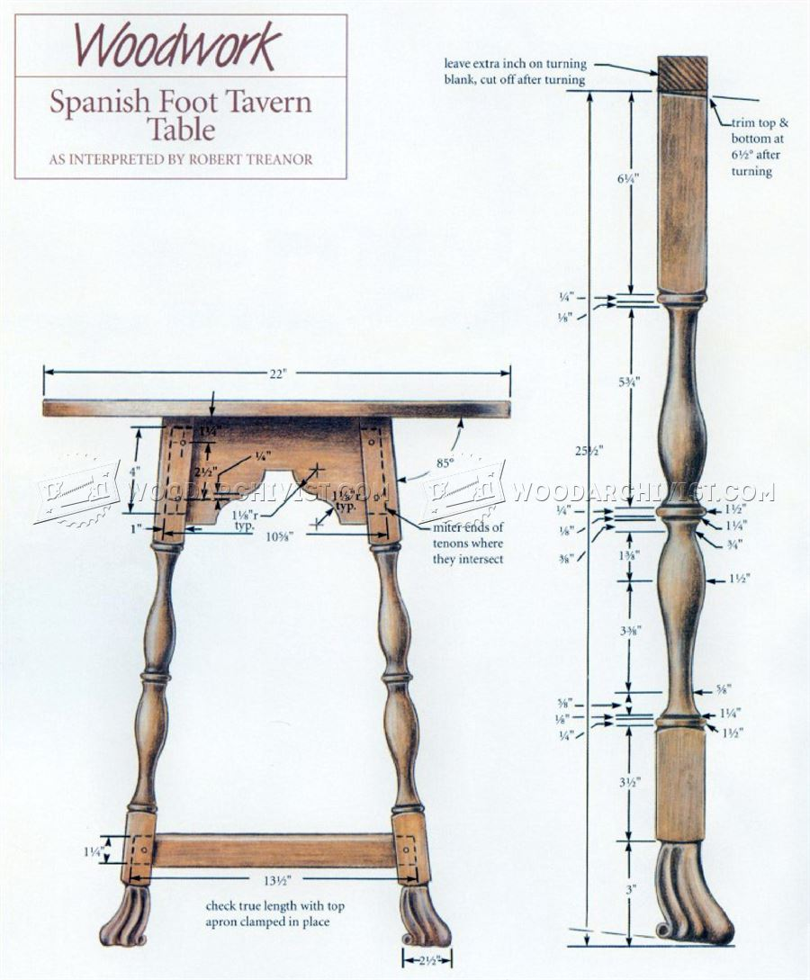 Tavern Table Plans