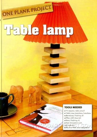 2997-Table Lamp Plans
