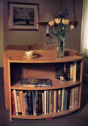 2998-Radius Bookcase Plans