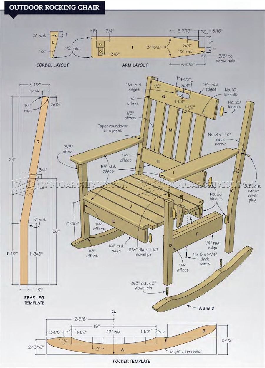 30 excellent woodworking plans rocking chair. Black Bedroom Furniture Sets. Home Design Ideas