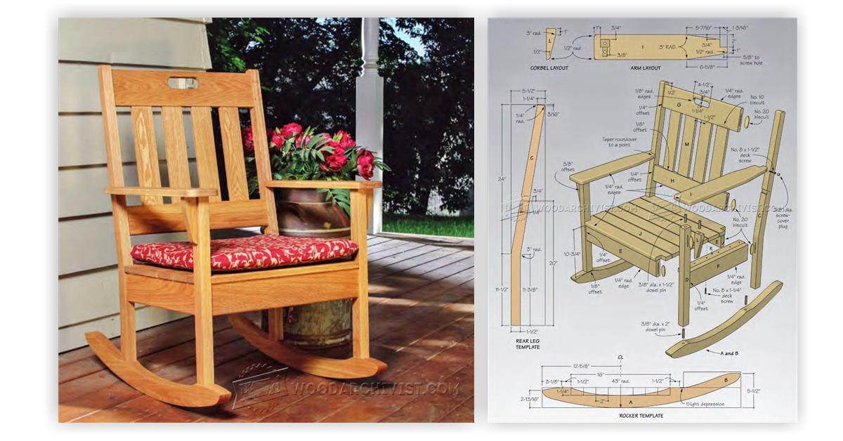 Outdoor rocking chair plans woodarchivist for Rocking chair design plans