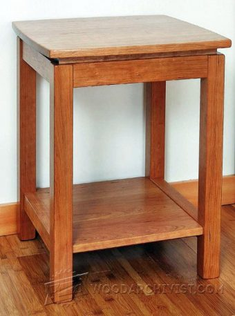 Revolving End Table Plans WoodArchivist - How to build an end table