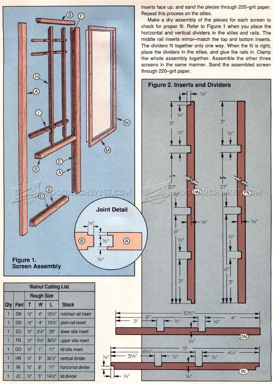 Shoji Screen Lamp Plans - Woodworking Plans