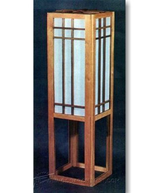 3007-Shoji Screen Lamp Plans