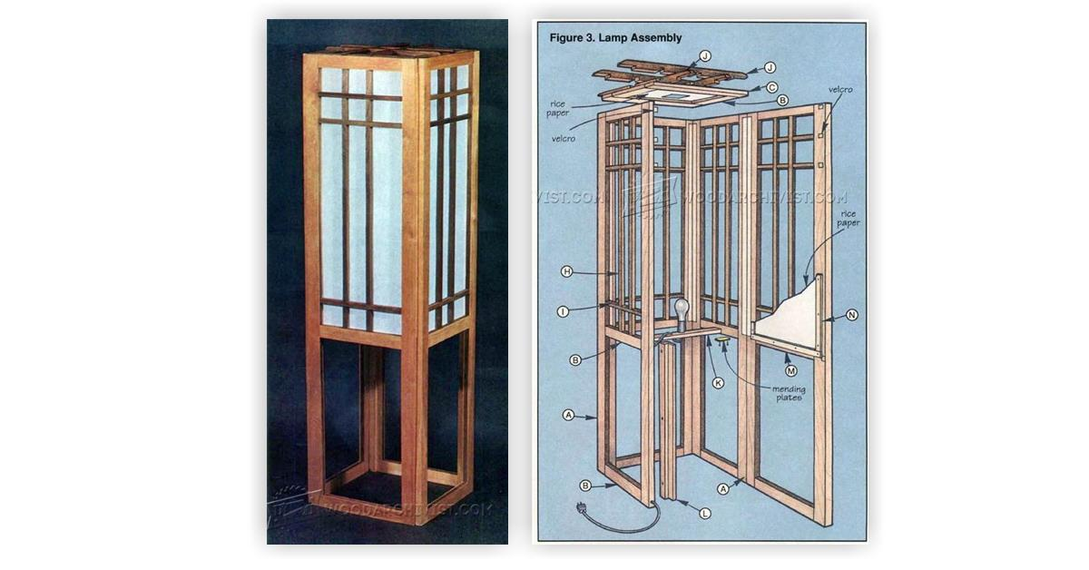 Shoji Screen Lamp Plans • WoodArchivist