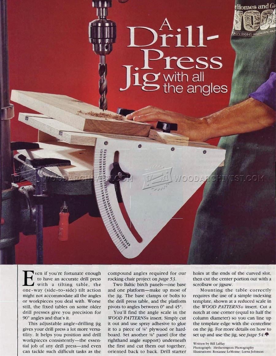 #3011 Drill Press Angle Jig