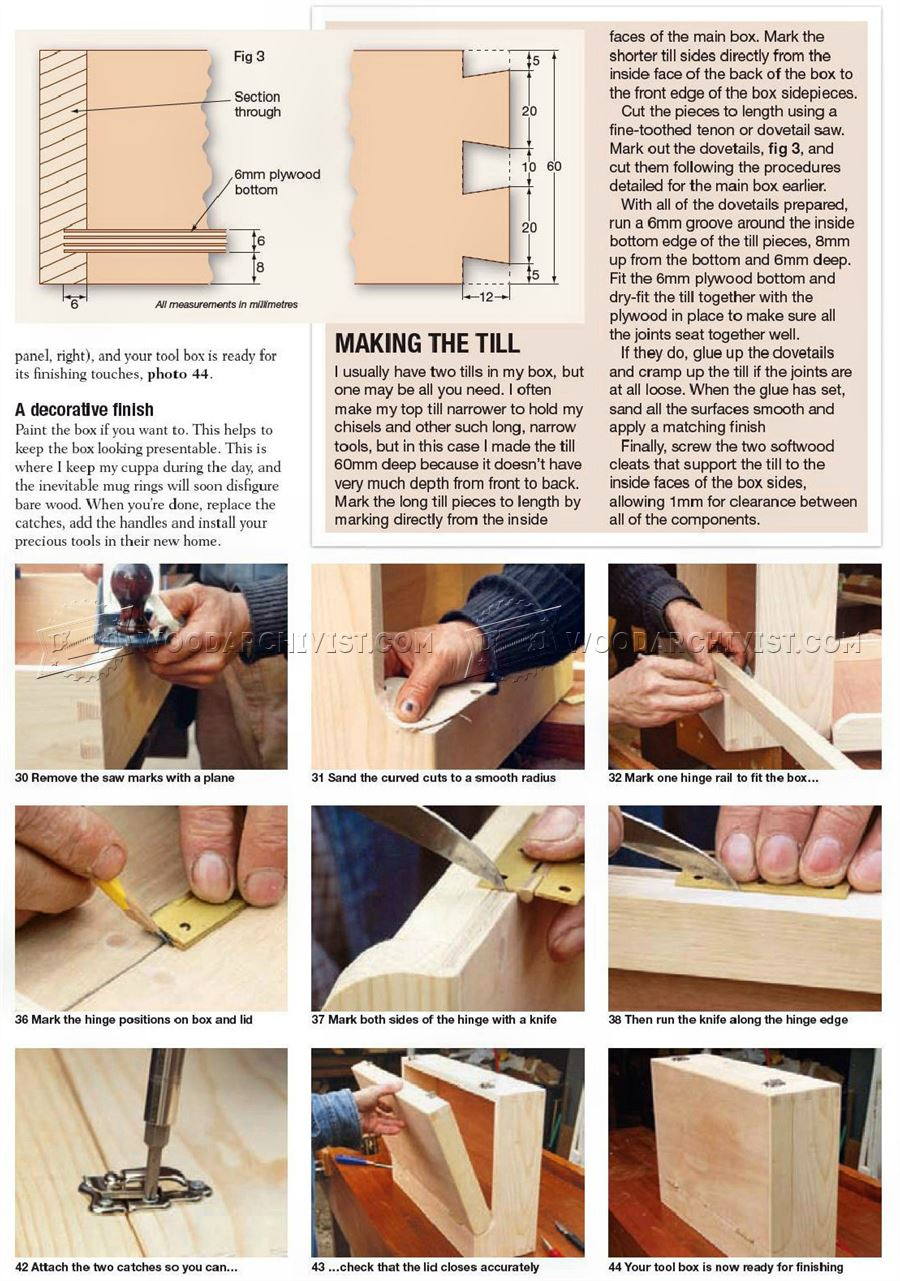 Wooden Toolbox Plans