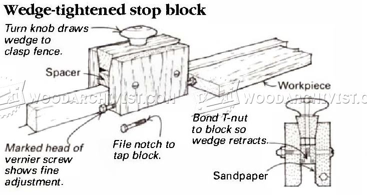 Adjustable Stop Block