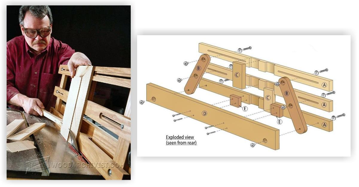 Raised Panel Table Saw Jig Woodarchivist