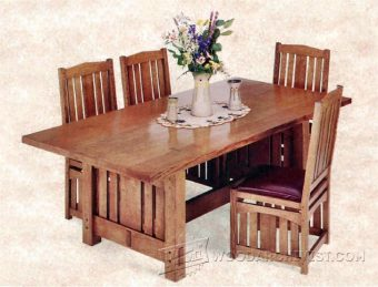 3032-Arts and Crafts Dining Table Plans