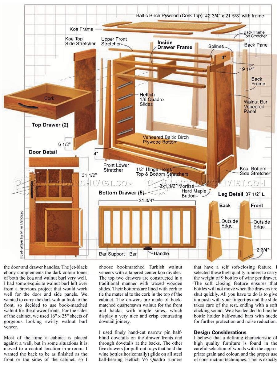 Wine Cabinet Plans Woodarchivist