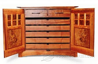 3035-Wine Cabinet Plans