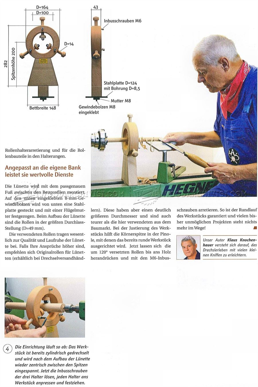 #3038 DIY Lathe Steady Rest