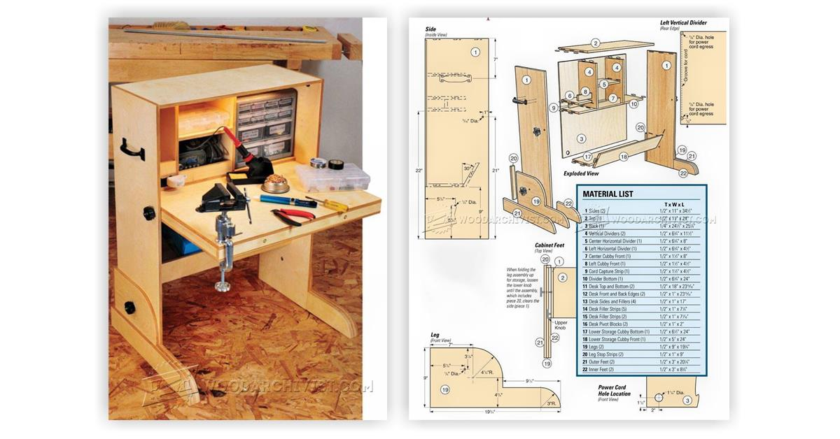 Hobby Desk Plans • WoodArchivist