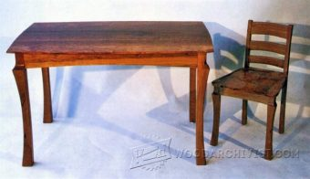 3045-Dining Table and Chairs Plans