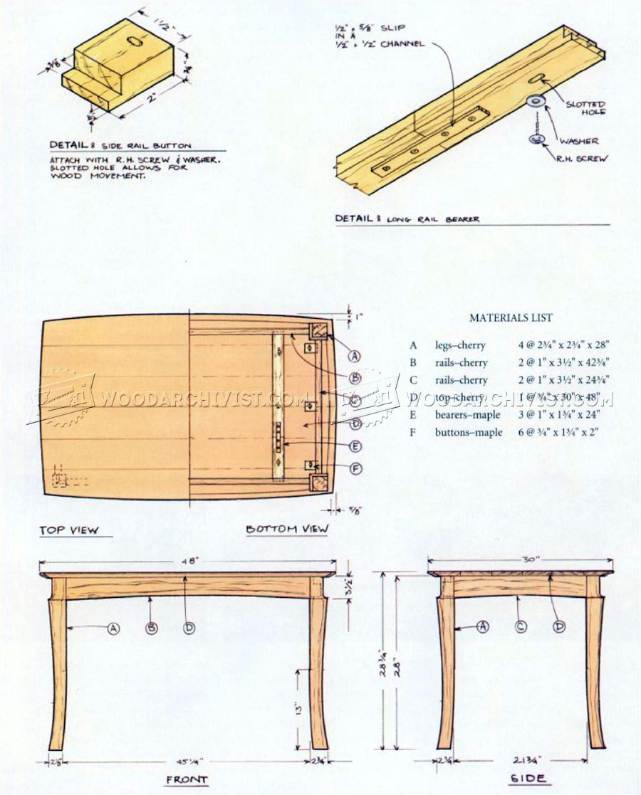 Dining Table and Chairs Plans