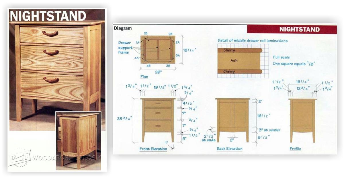 31 unique woodworking plans nightstand for Free nightstand woodworking plans
