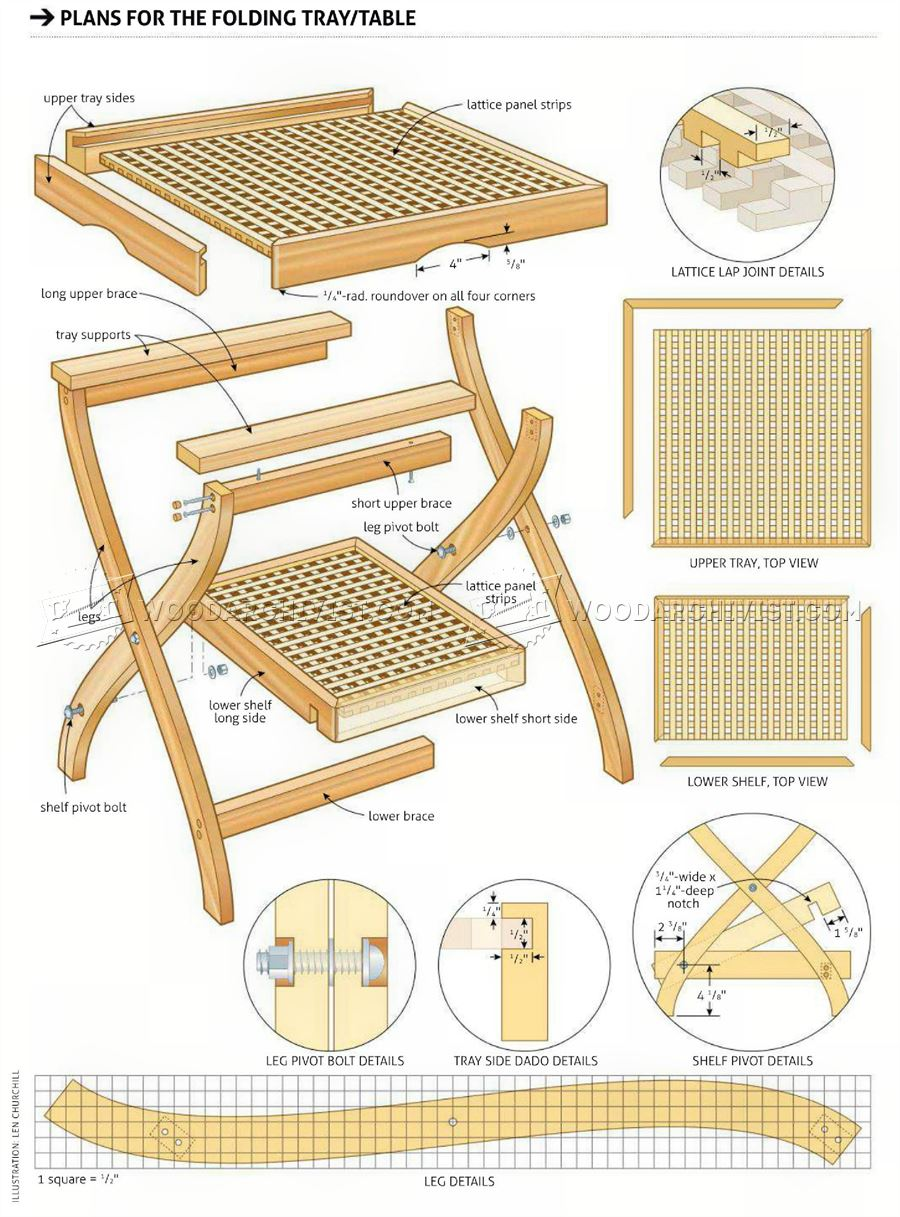 Folding Tray Table Plans