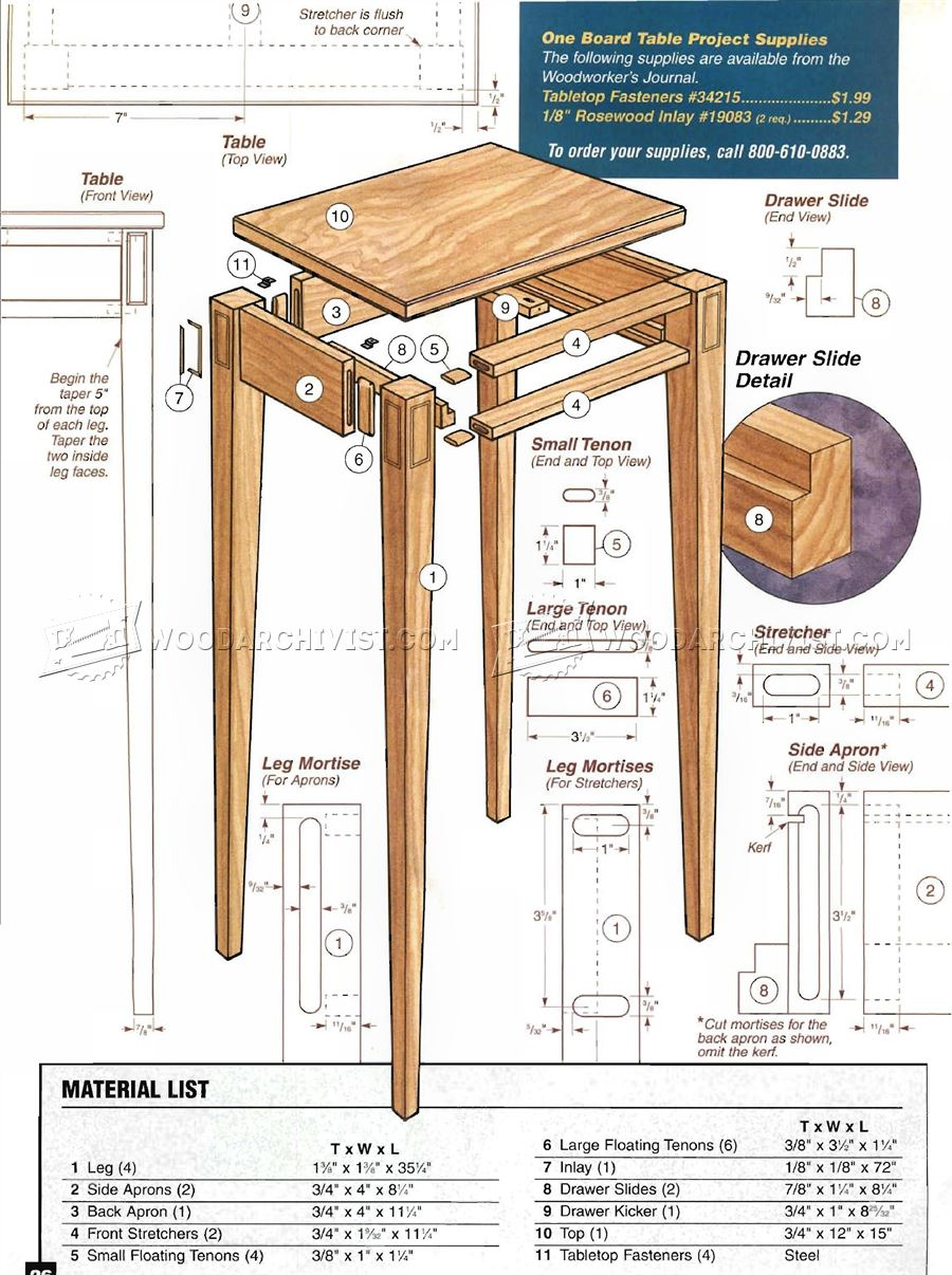Foyer Table Woodworking Plans : Build hall table woodarchivist