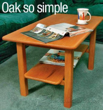 3052-Solid Oak Coffee Table Plans