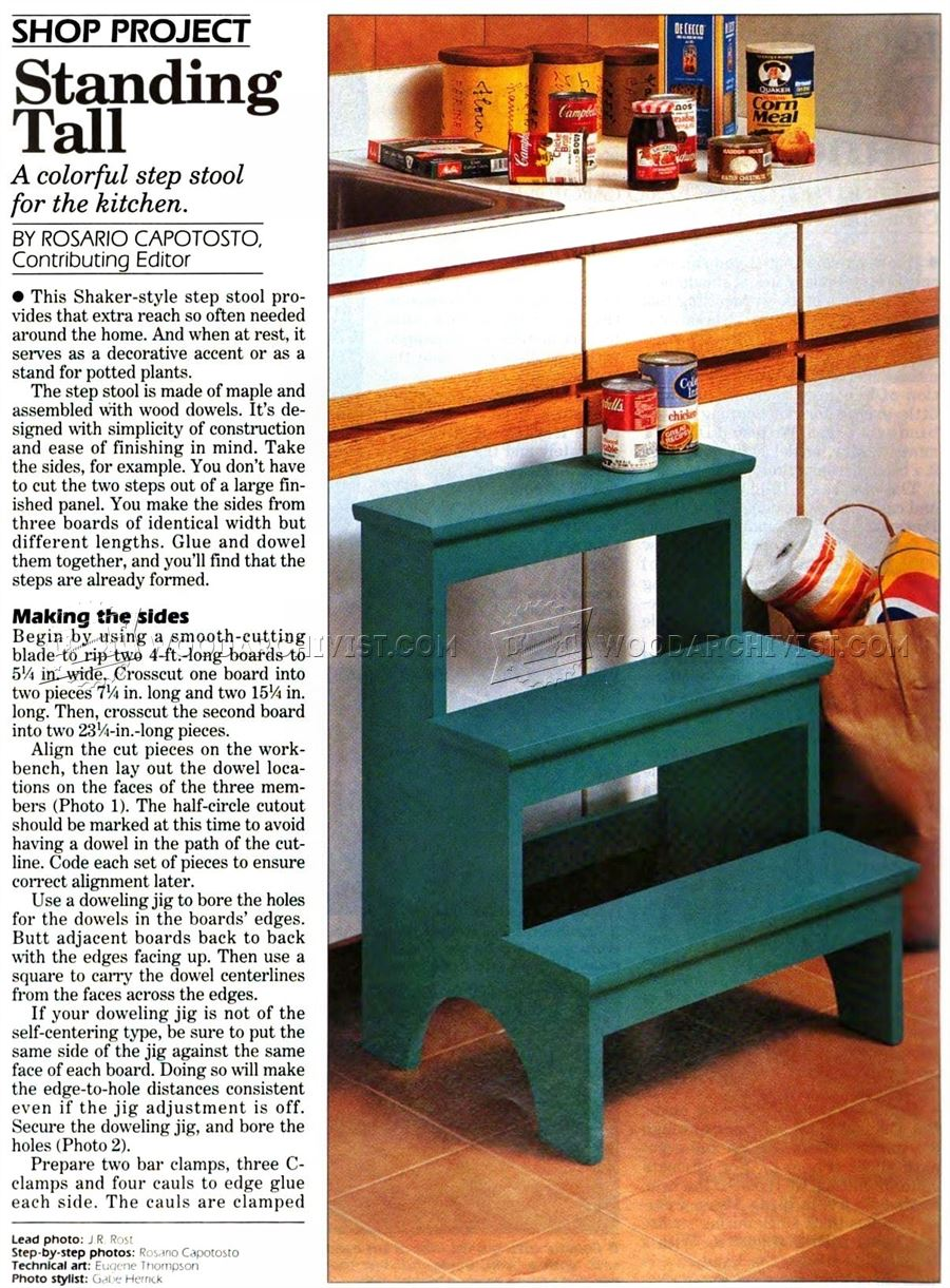 Kitchen Step Stool Plans Woodarchivist