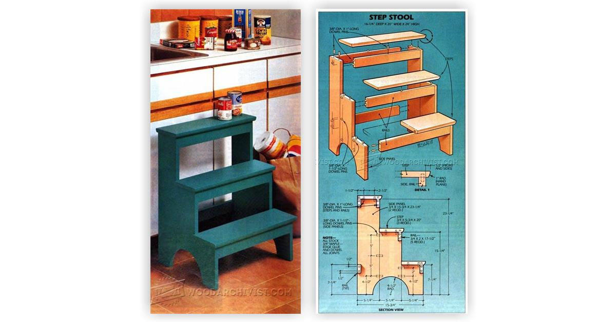Children S Wooden Step Stool Plans Small Wooden Step Stool