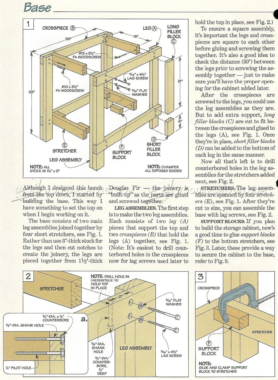 3058 Small Workbench Plans - Workshop Solutions